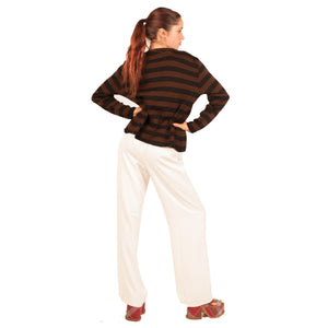 Fendi Striped Cardigan (Brown/Black) UK 8-12