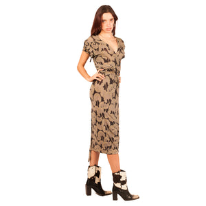 Roberto Cavalli Wrap Dress (Multi Sparkle) UK 8-12.