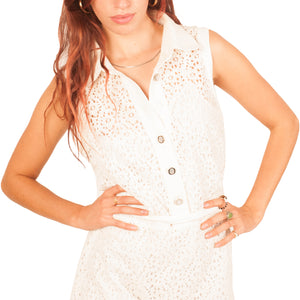 Dolce and Gabbana Lace dress (White) UK 8-10