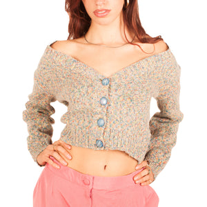 Moschino Cropped Cardigan (Multi) UK 6-10