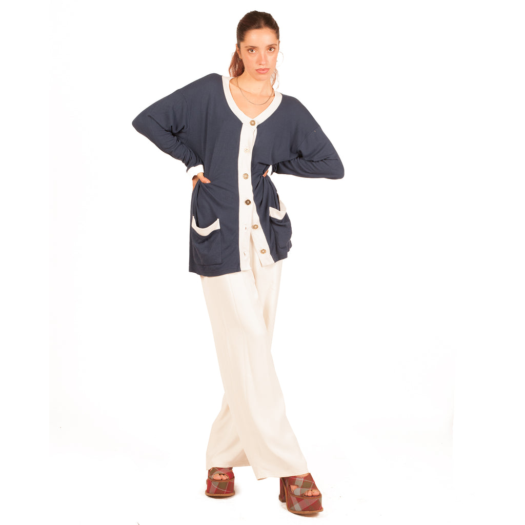 Fendi 2-Tone Cardigan (Blue/White) UK 8-12