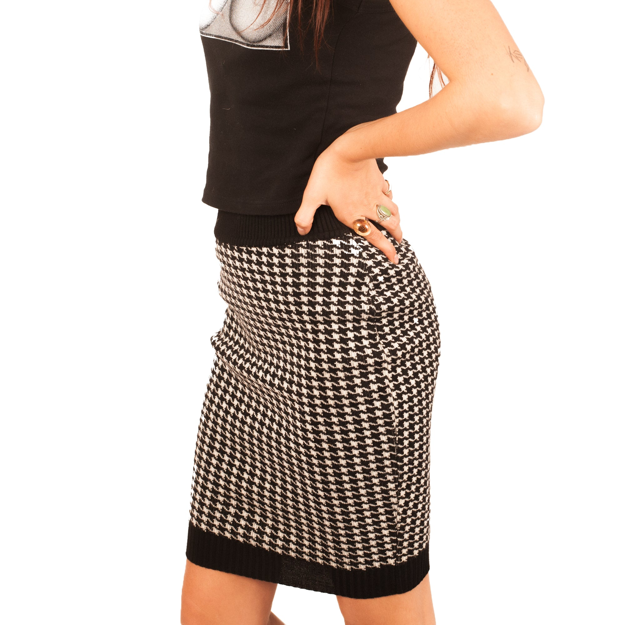 Dolce and Gabbana Skirt (Houndstooth) UK 6-10