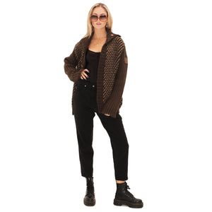 Dolce and Gabbana Knit jacket (Brown) UK 8-12