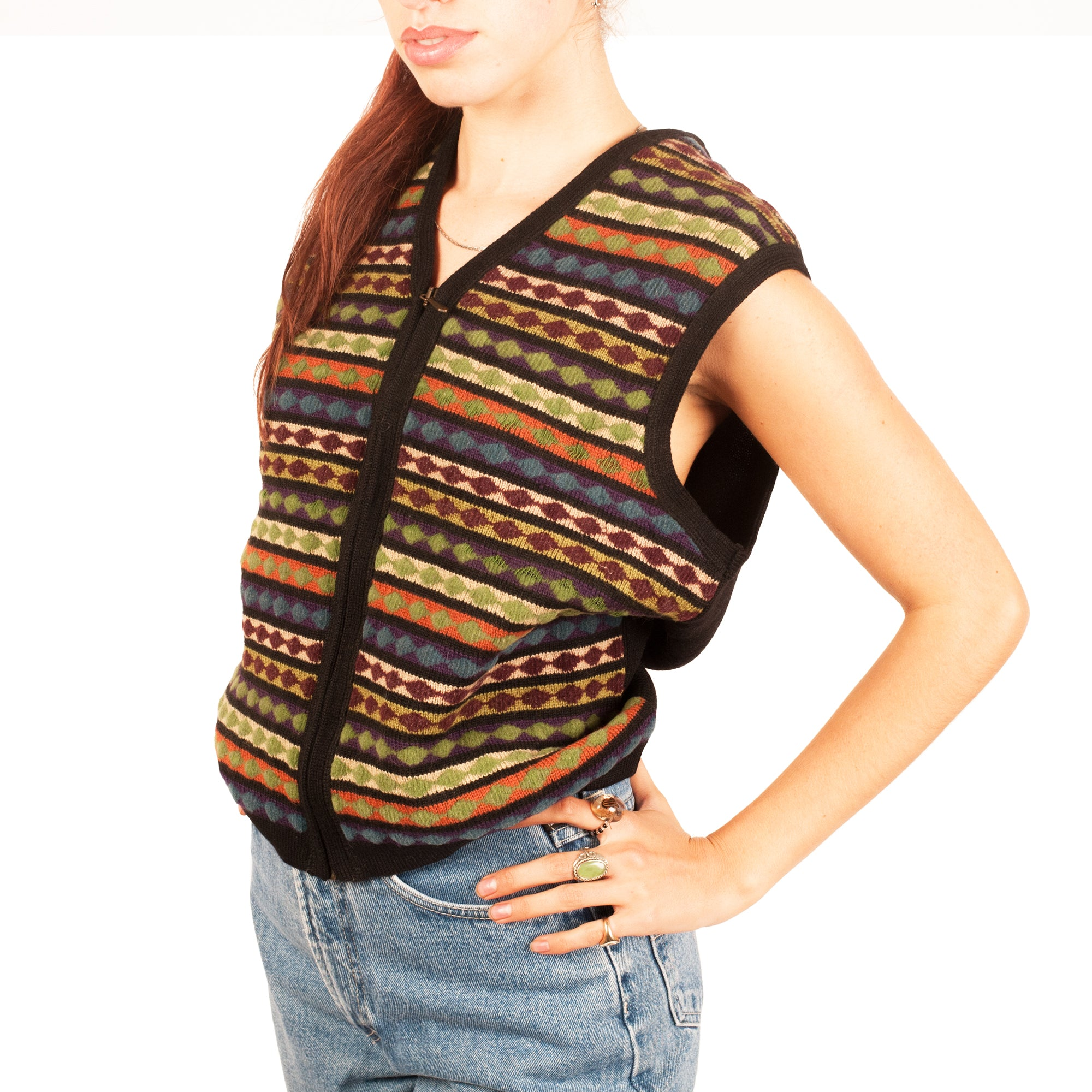 Jean Paul Gaultier Knit Vest (Multi) UK 8-12