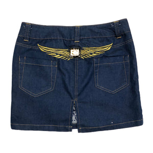 Roberto Cavalli Angel Mini Skirt (Blue) UK 12