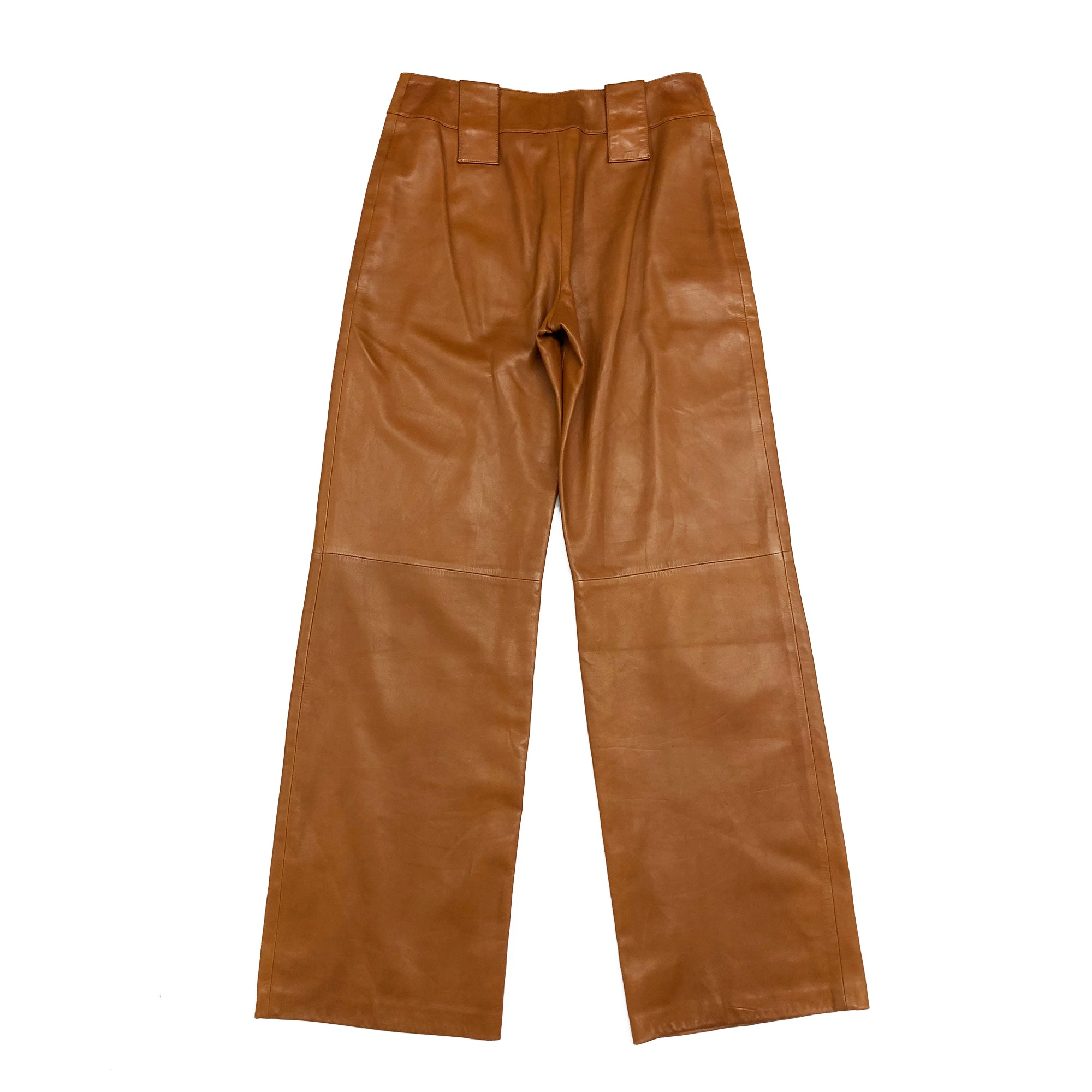 Chanel Butter Leather Trousers (Apricot) UK 8/10