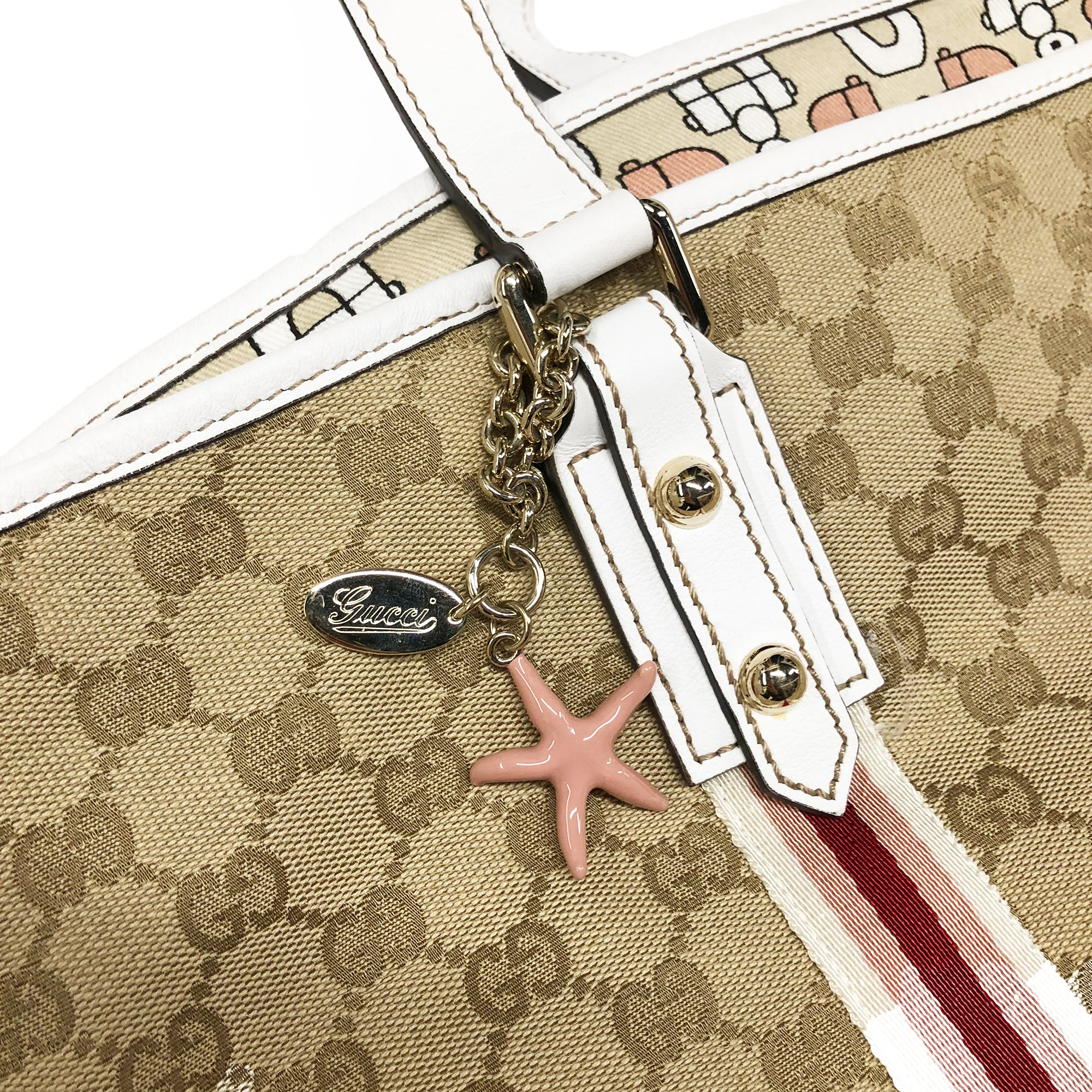 Gucci Monogram Starfish Charm Bag (Multi) OS