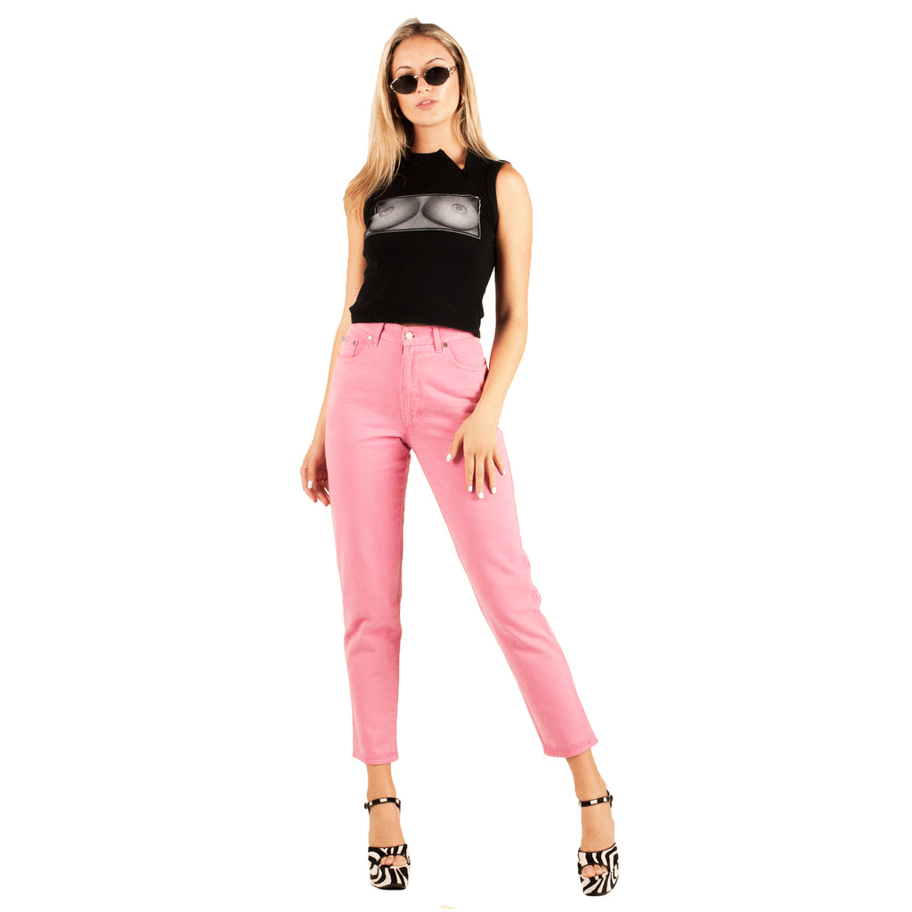 Fendi Mom Jeans (Pink) UK 6-8
