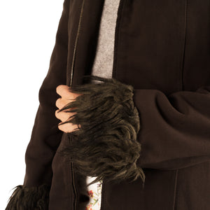 Moschino Fur Trim Coat (Brown) UK 6-10