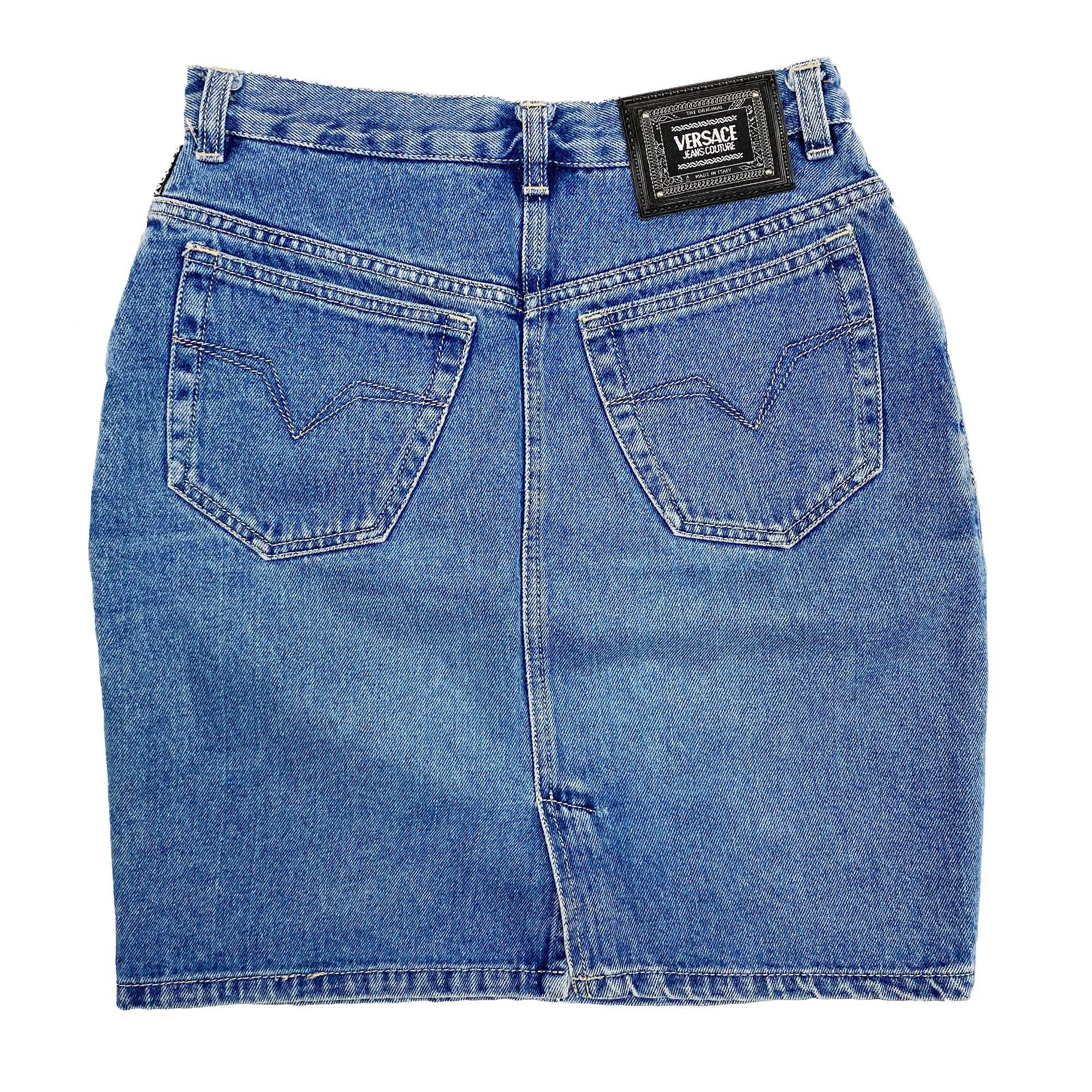 Versace Mini Skirt (Denim) Uk 10-12