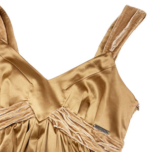Galliano Silk Bodice Top (Brown) UK 10-12