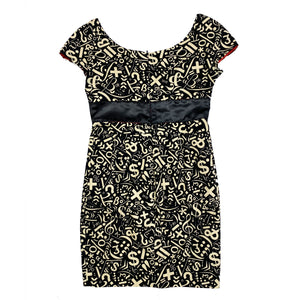 Moschino Symbol Pencil Dress (Multi) UK 10