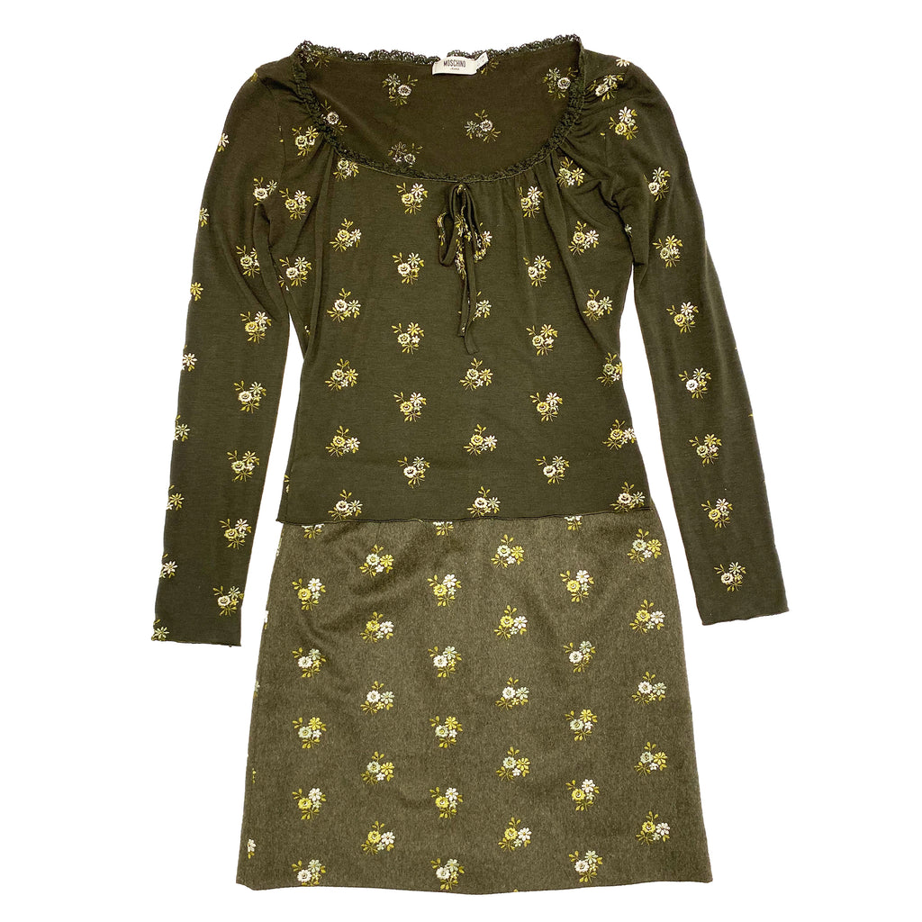 Moschino Embroidered 2-Piece (Green) UK 12