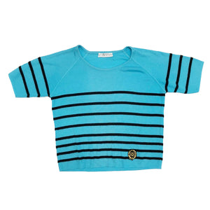 Givenchy Striped Crew Knit (Blue) UK 10