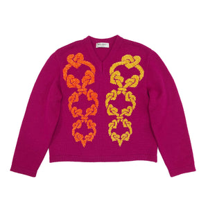 YSL Rope Knit Jumper (Pink) UK 8