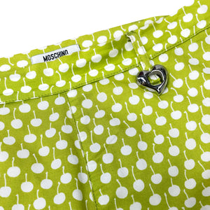Moschino Cherry Print Trousers (Lime Green) UK 12
