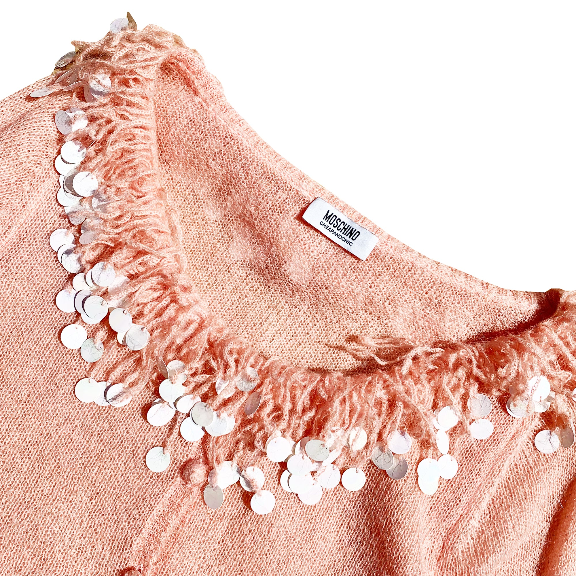 Moschino Tassel Cardigan (Peach) UK 10-14