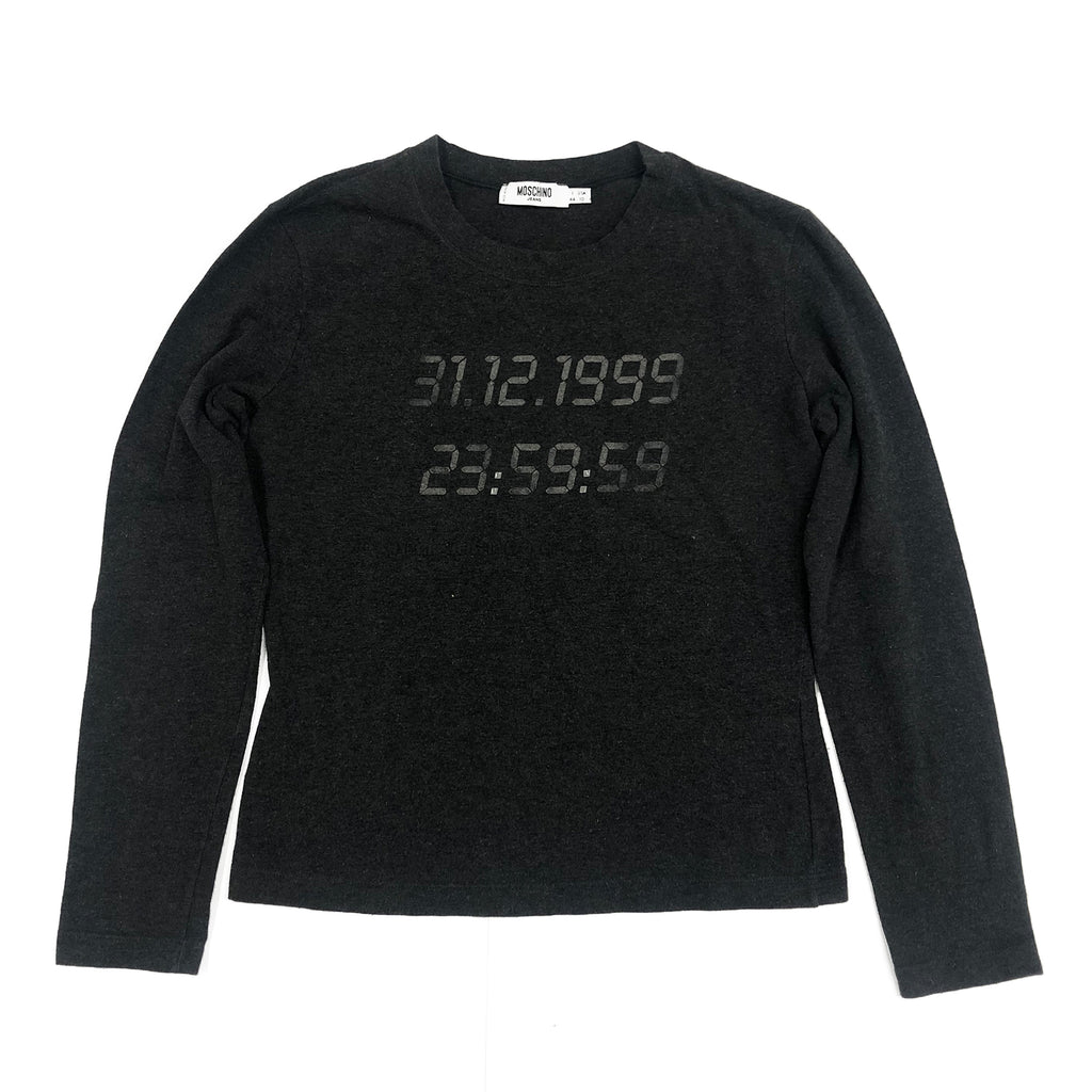 Moschino Number Longsleeve T-Shirt (Black) UK 10
