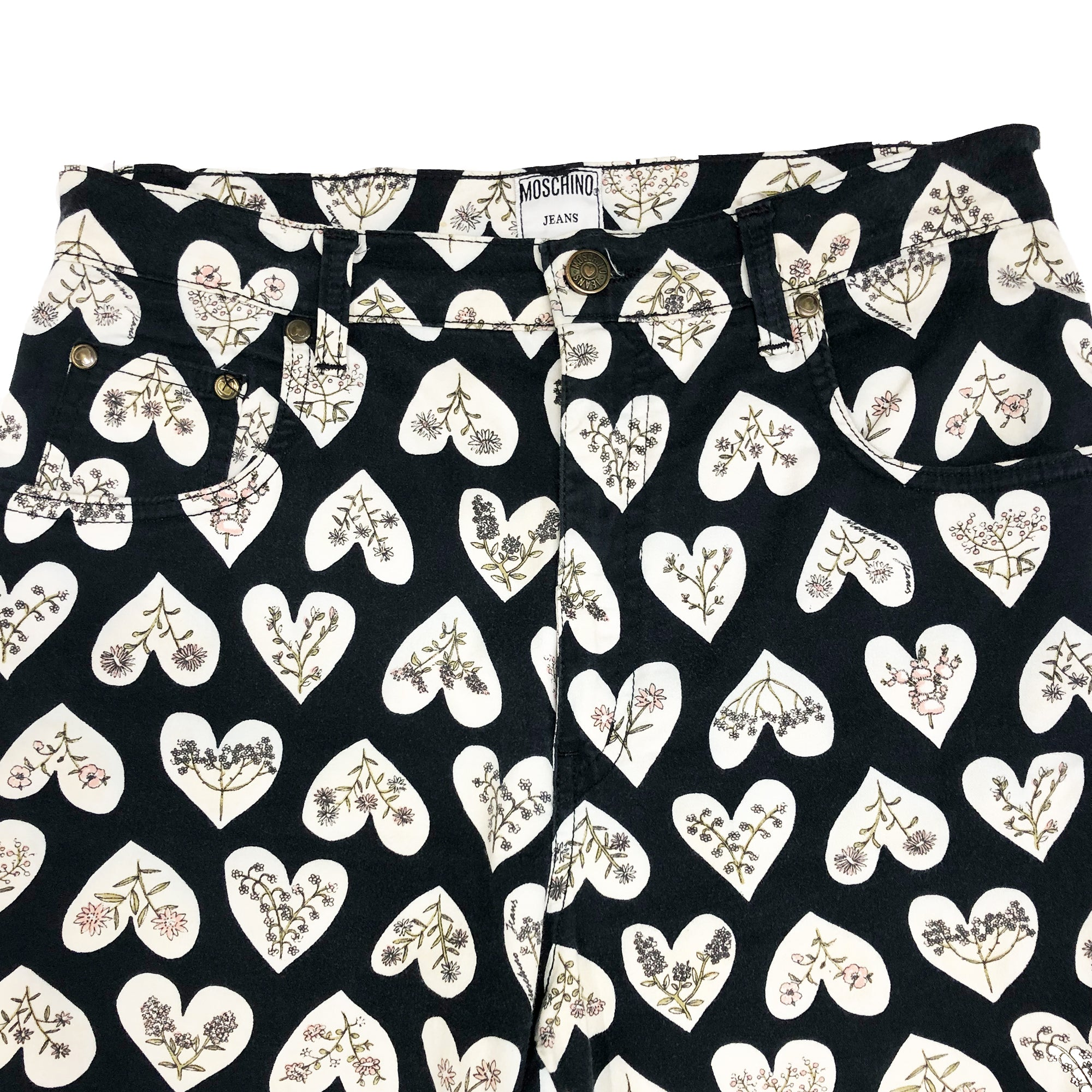 Moschino Hearts and Floral Pant (Multi) UK 12