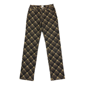 Roberto Cavalli Check Trousers (Brown) UK 12