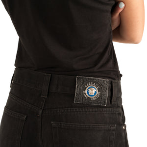 Versace Cropped Jeans (Black) UK 14