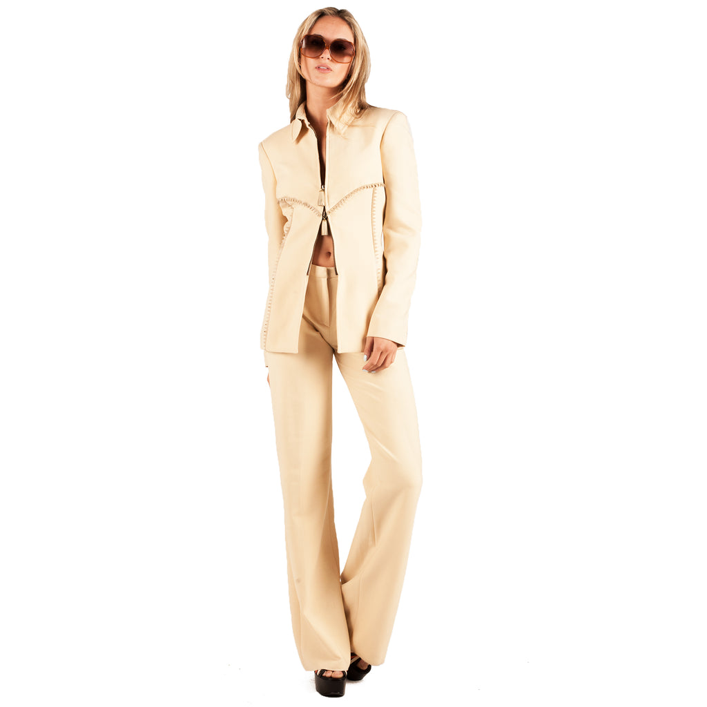 Versace Trouser Suit (Cream) UK 12