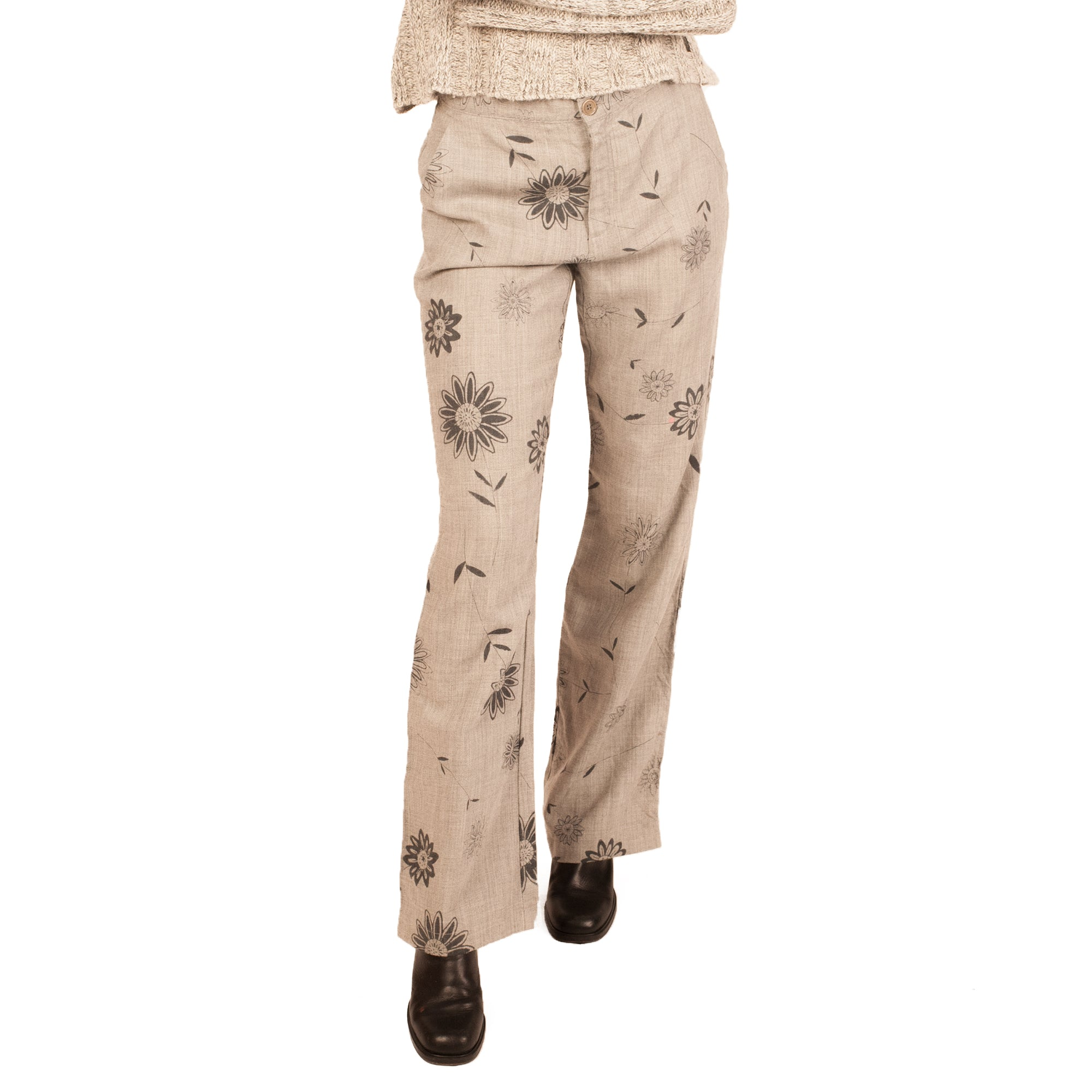 Moschino Floral Trousers (Grey) UK 10.