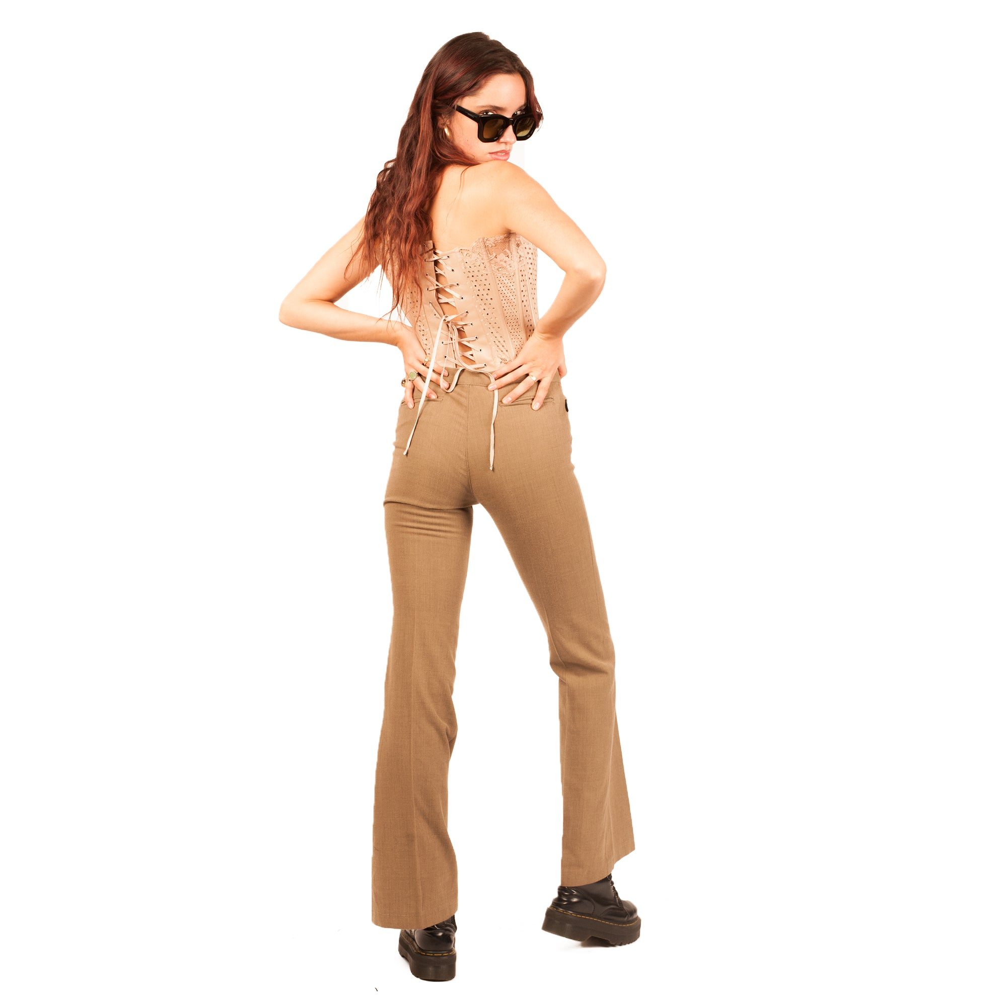 Moschino Trousers (Brown) UK 10
