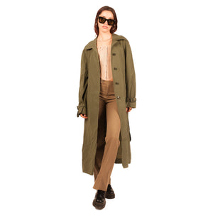 Versace Trench Coat (Green) UK 10-12