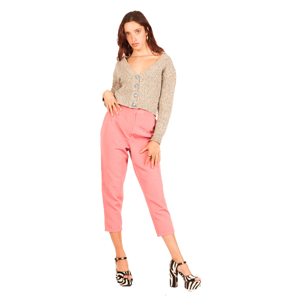 Ferragamo Cropped Pant (Pink) UK 10-12