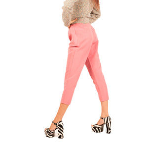 Ferragamo Cropped Trousers (Pink) UK 10-12