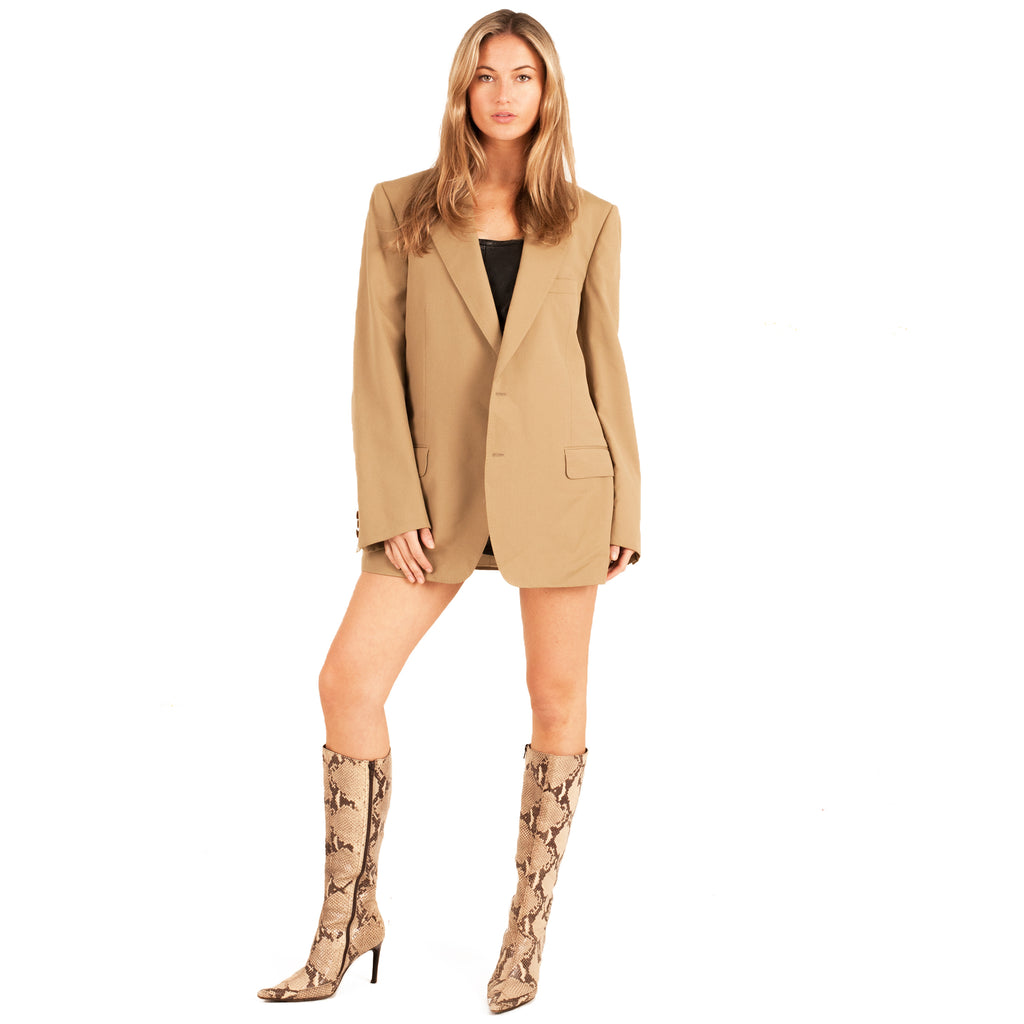 Yves Saint Laurent Blazer (Tan) UK 8-14