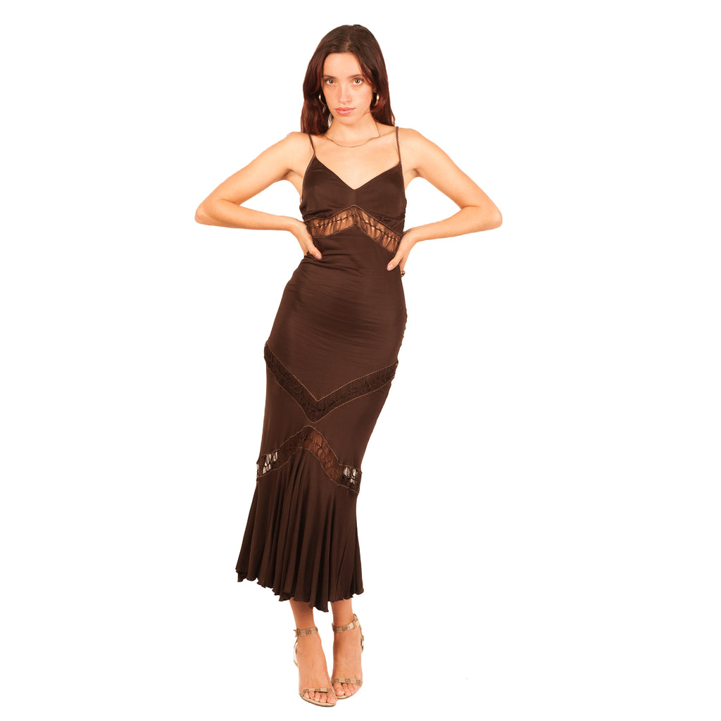 Roberto Cavalli Dress (Brown) UK 6