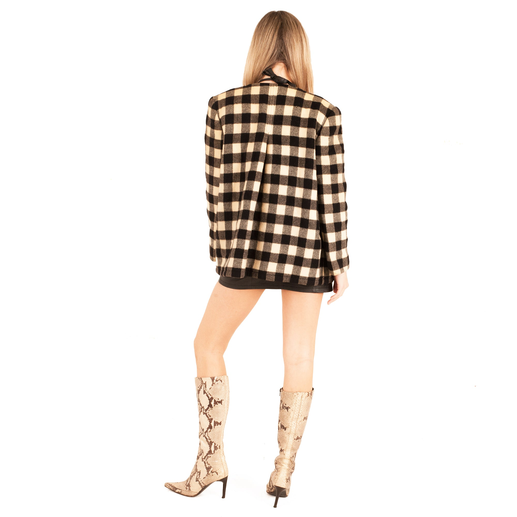 Valentino Jacket (Black/White Check) UK 6-10