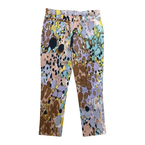 Rocco Barocco Watercolour Trousers (Multi) UK 14/16