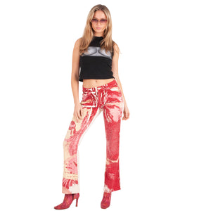 Krizia Abstract Tiger Jeans (Multi) UK 10-12