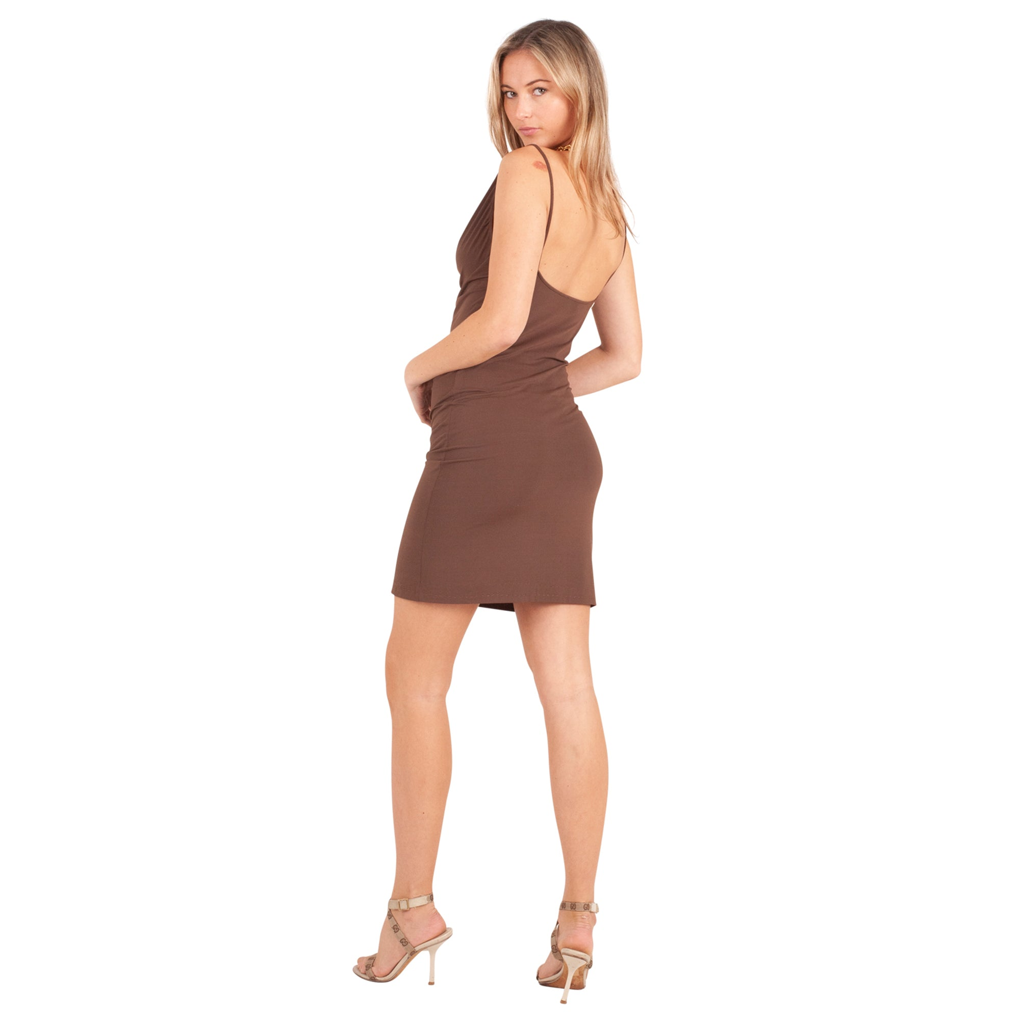 Fendi Mini Dress (Brown) UK 10