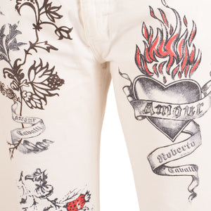 Roberto Cavalli Tattoo Jeans (Multi) UK 12-14