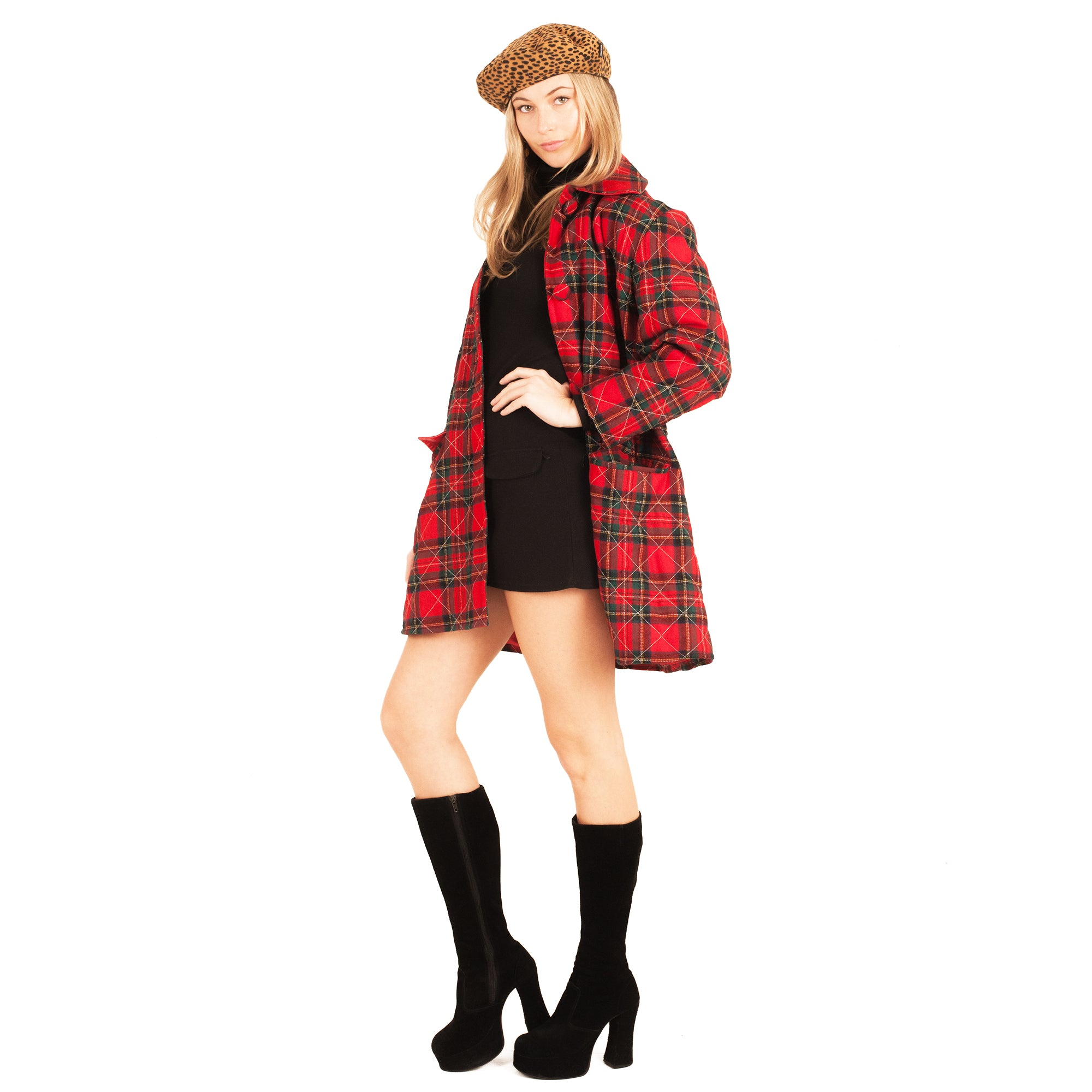 Plaid Coat (Multi) UK 8-12