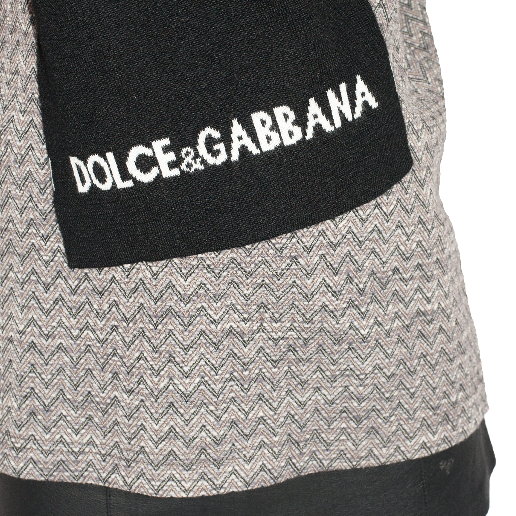 Dolce and Gabbana Logo Scarf (Black/White) OS