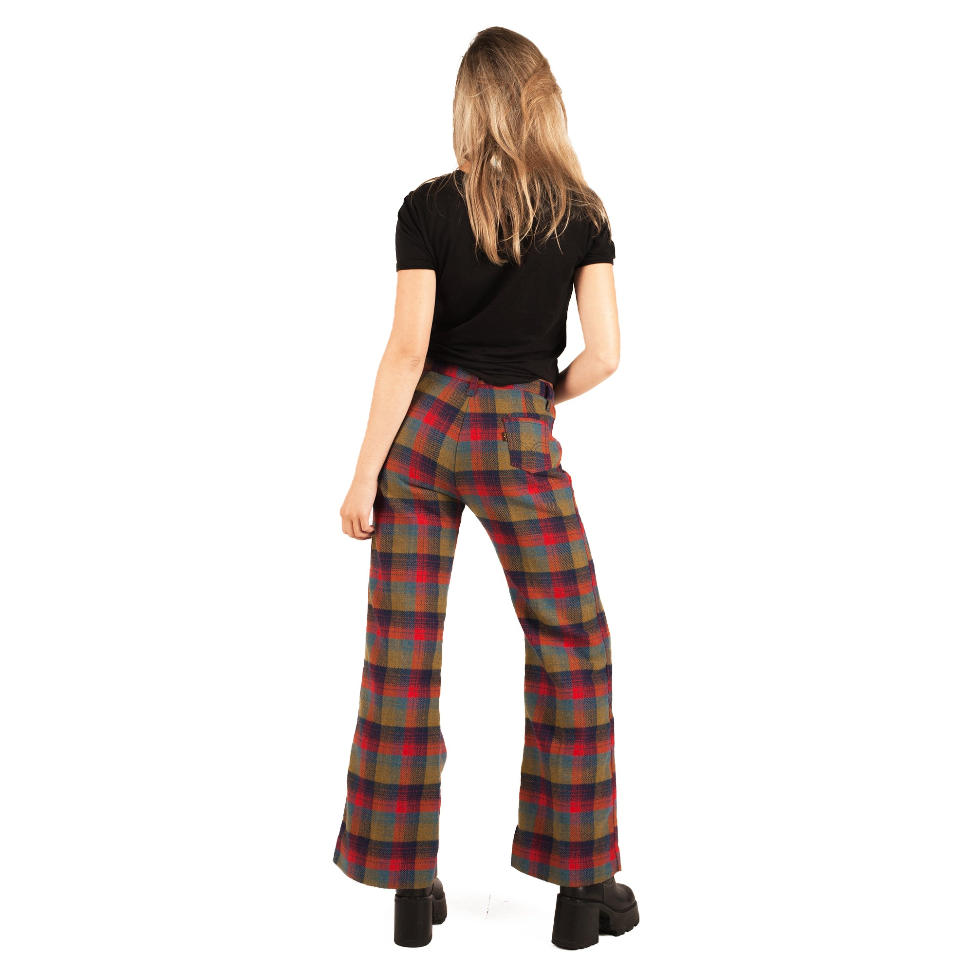 Levis Flared Trousers (Plaid) UK 12