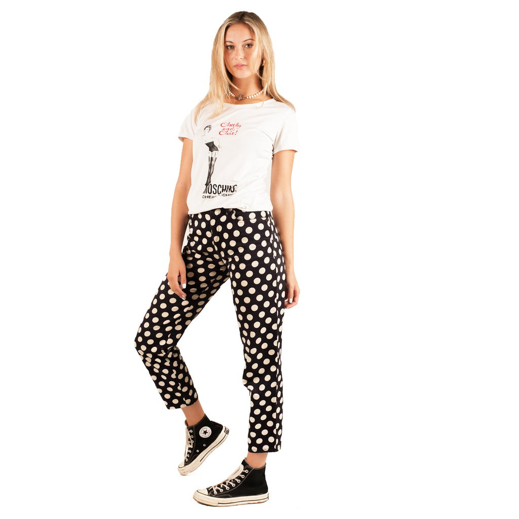 Moschino Cropped Pants (Polkadot) UK 6
