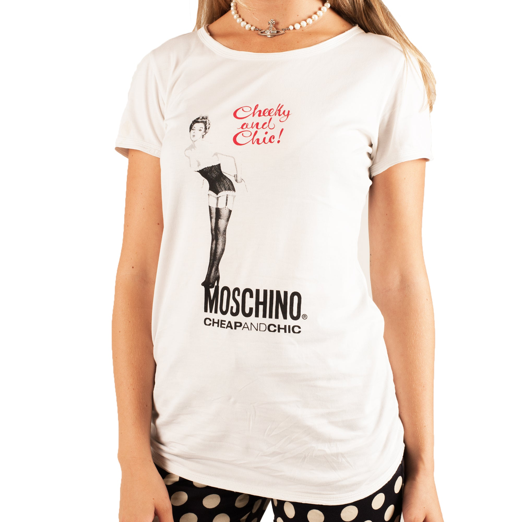 Moschino Cheeky and Chic T-shirt (White) UK 6-10