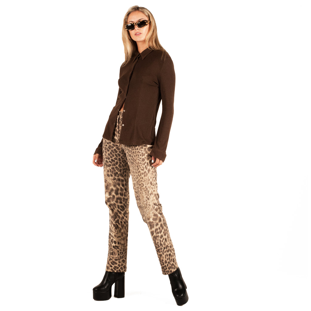 Rocco Barocco Jeans (Leopard) UK 12