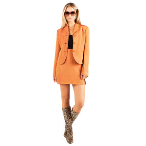 Byblos Mini Skirt Suit (Orange) UK 8-10