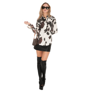 Roberto Cavalli Just Cavalli Blouse (Cow Print) UK 8-12