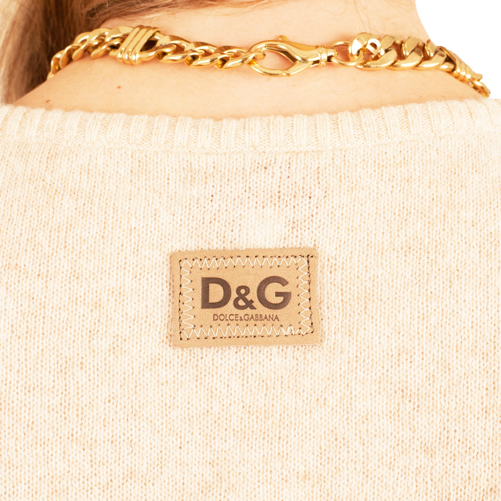 Dolce and Gabbana Knit Vest (Sand) UK 6-10