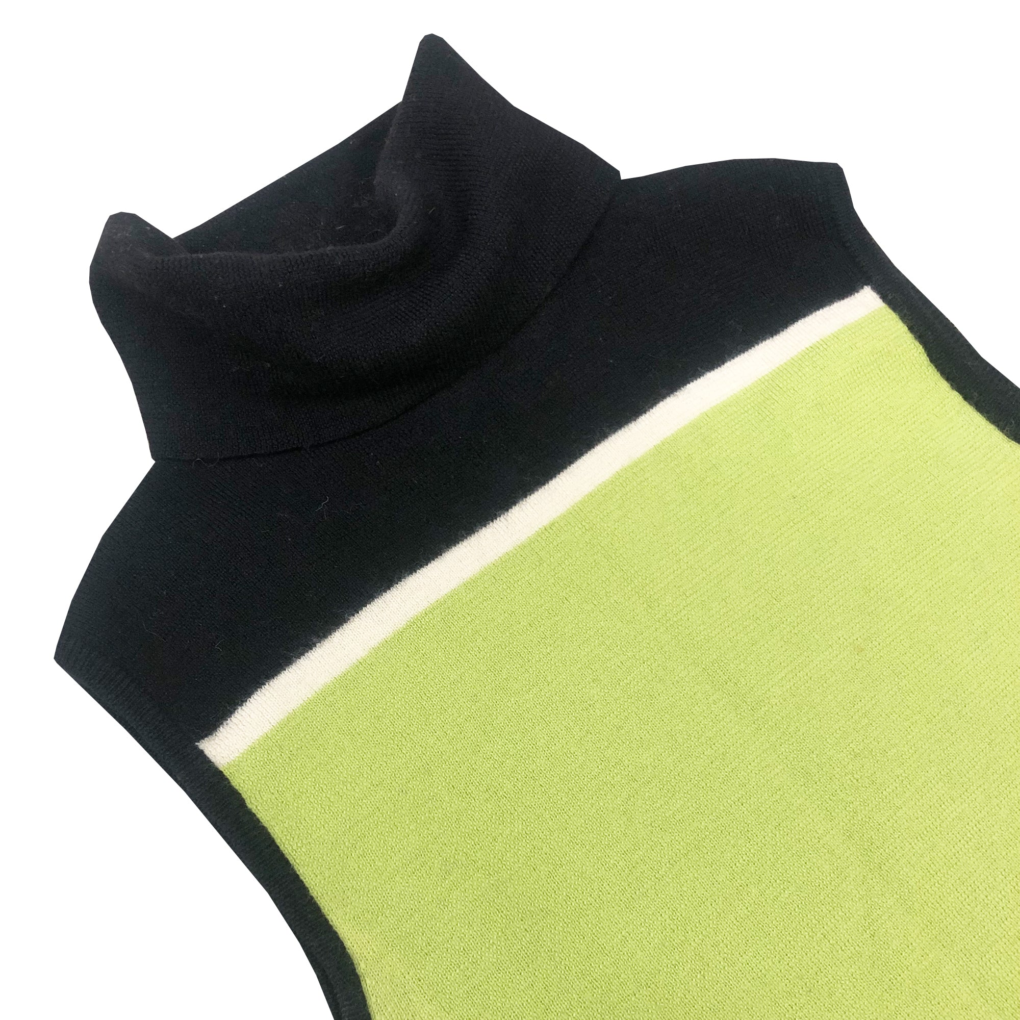 Moschino Knit Turtle Neck Vest (Green/Black) UK 6/8