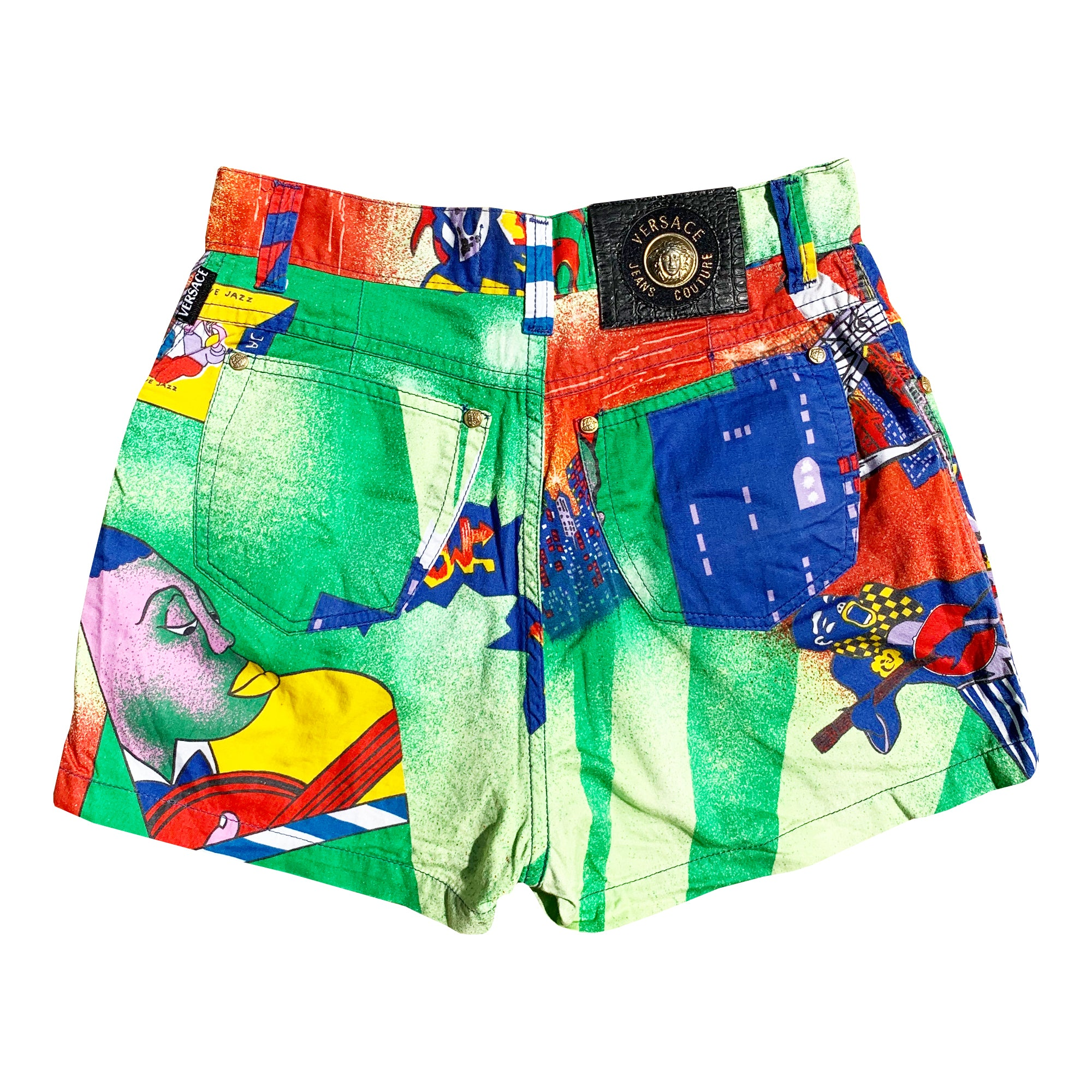 Vintage Versace Shorts (Multi) UK 10
