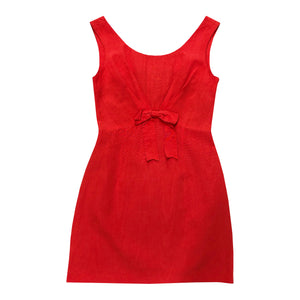 Moschino Bow Mini Dress (Red) UK 8